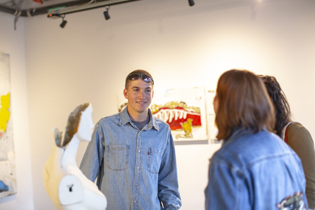 Aspen Local Artist Axel Livingston at the Gonzo Gallery